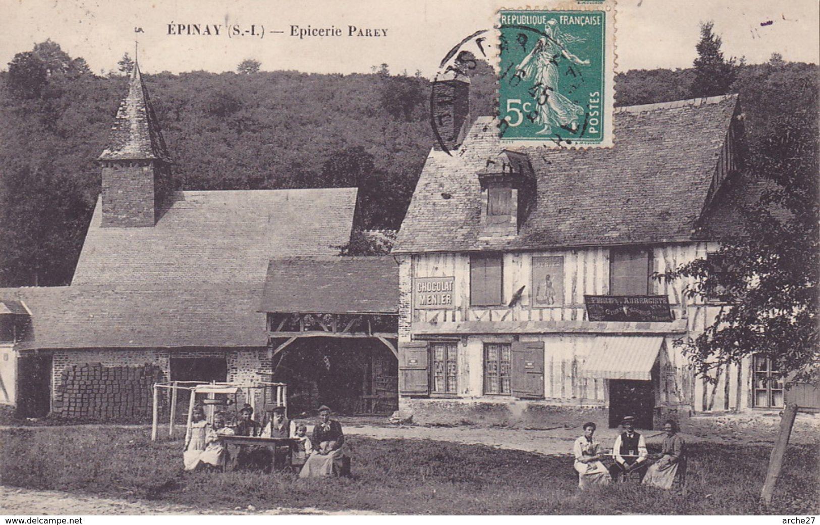 CPA - 76 - EPINAY - épicerie Parey - RARE !!!!! - France