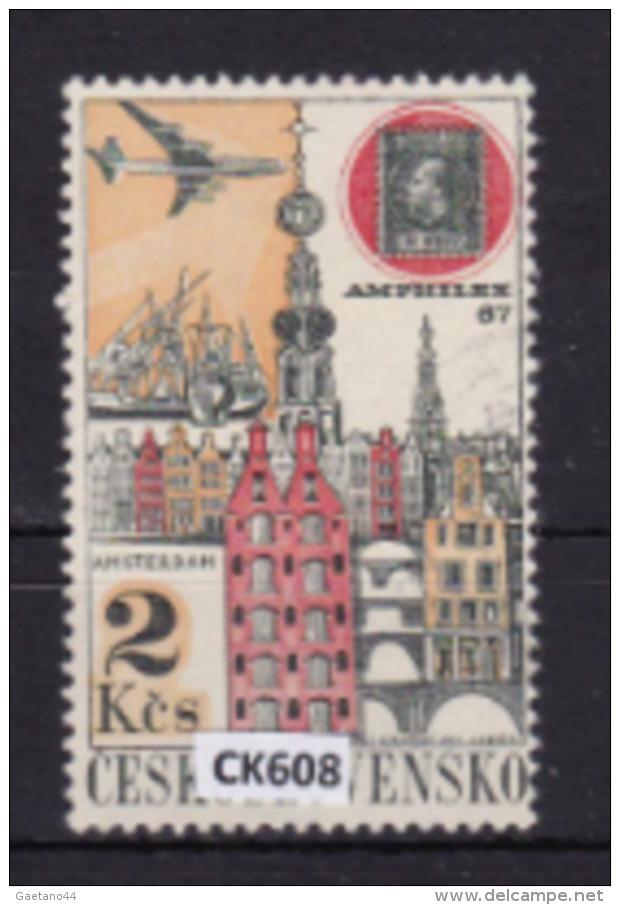 """Cecoslovacchia 1967: Francobollo Usato Da 2 Kr. Della Serie """"Propaganda All'Esposizione Filatelica Interrn.Praga '68"""". - Tschechoslowakei/CSSR"""