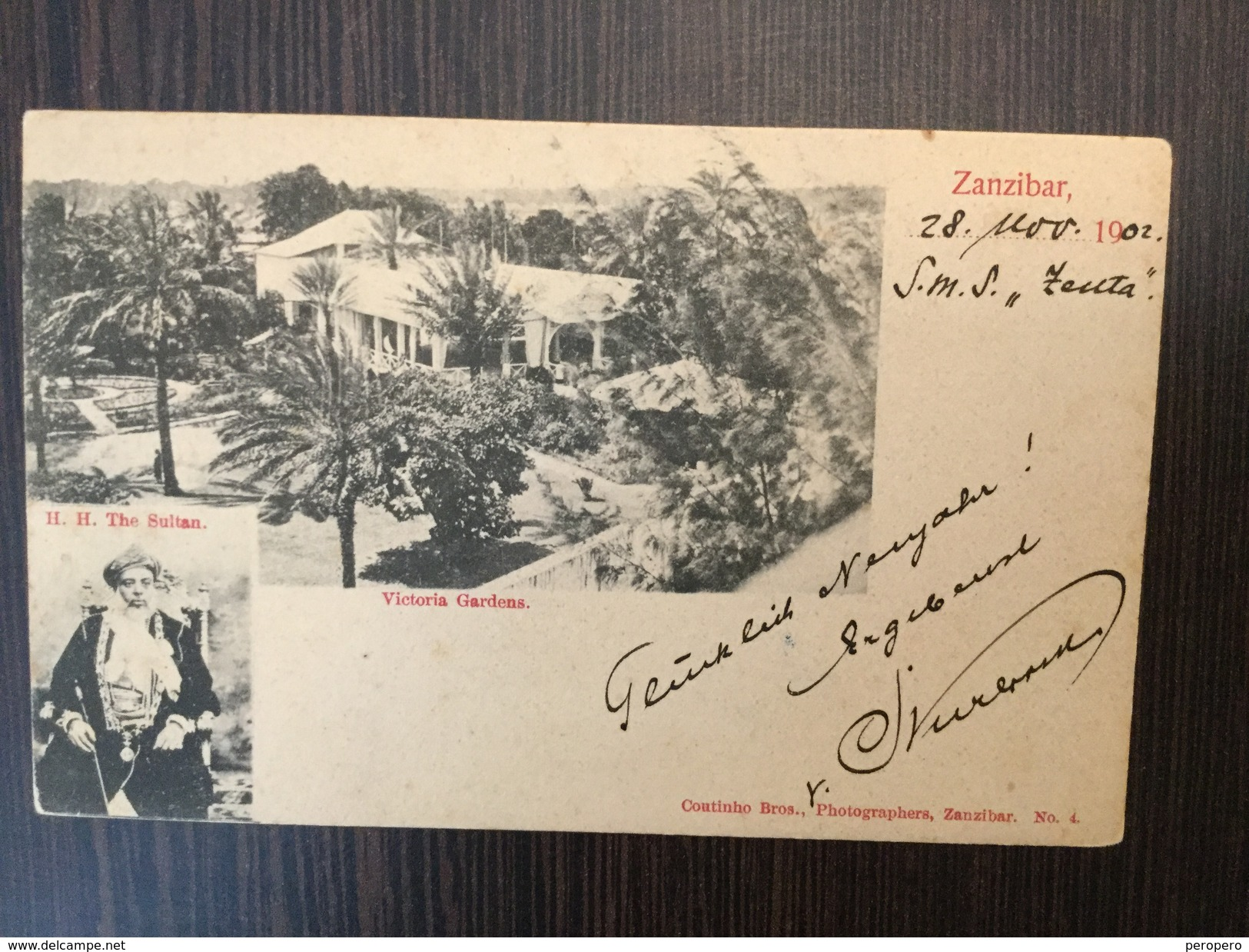 AK  ZANZIBAR   TANZANIA   H.H. THE SULTAN    1902. - Tansania