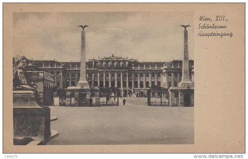 Autriche - Wien - Schönbrunn - Haupteingang - Château De Schönbrunn