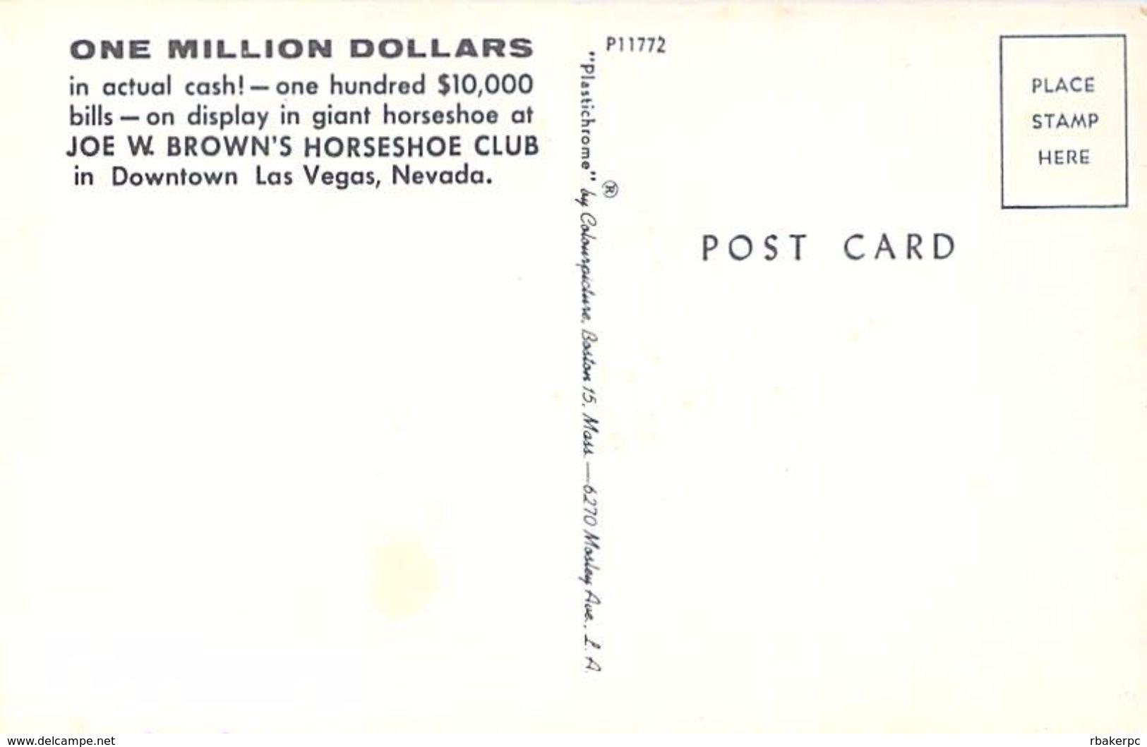 Joe W. Brown's Horseshoe Club - Las Vegas, NV - Las Vegas