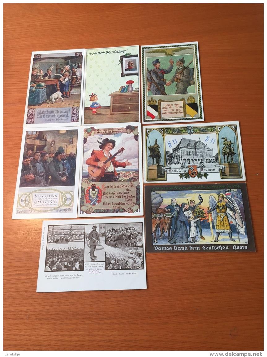 Kleine Sammlung / Collection 8 Spottkarten Ab 1900 - Postzegels