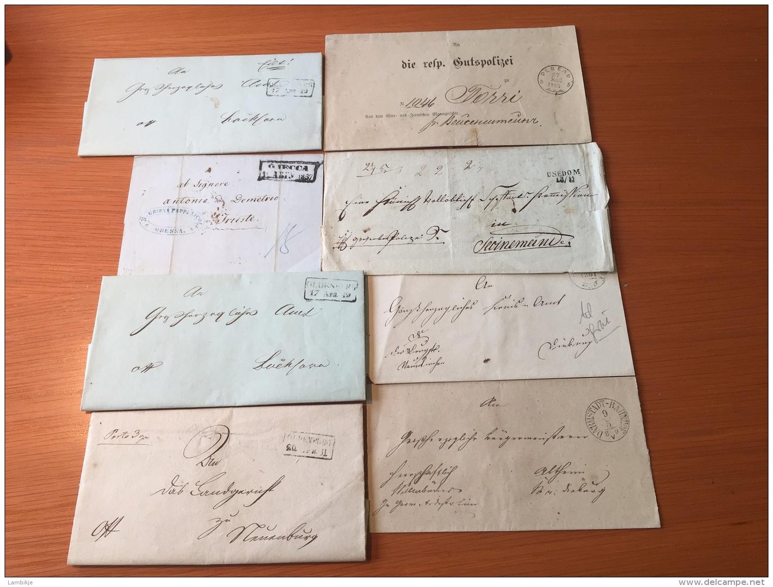 Kleine Sammlung / Collection 8 Briefe Ab 1857 - Stamps