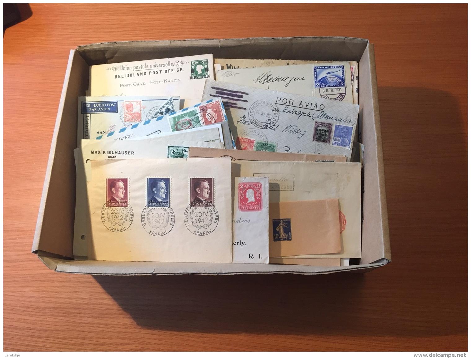 Collection / Sammlung Of 300+ Postcards/Enveloppes/Perfins/Censor World (Deutsches Reich, Brazil Usw)(Mixed Quality) - Postzegels