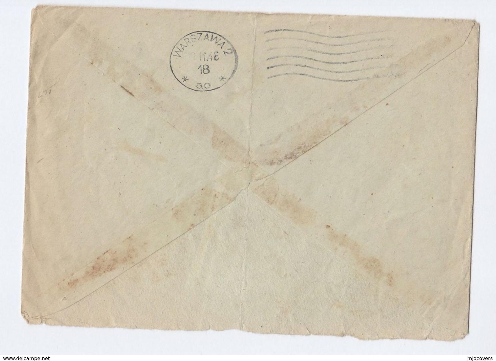 1948 Gdynia POLAND COVER Stamps 25z AIRMAIL Archery 20z Mickiewicz Imperf To GB - 1944-.... Republic
