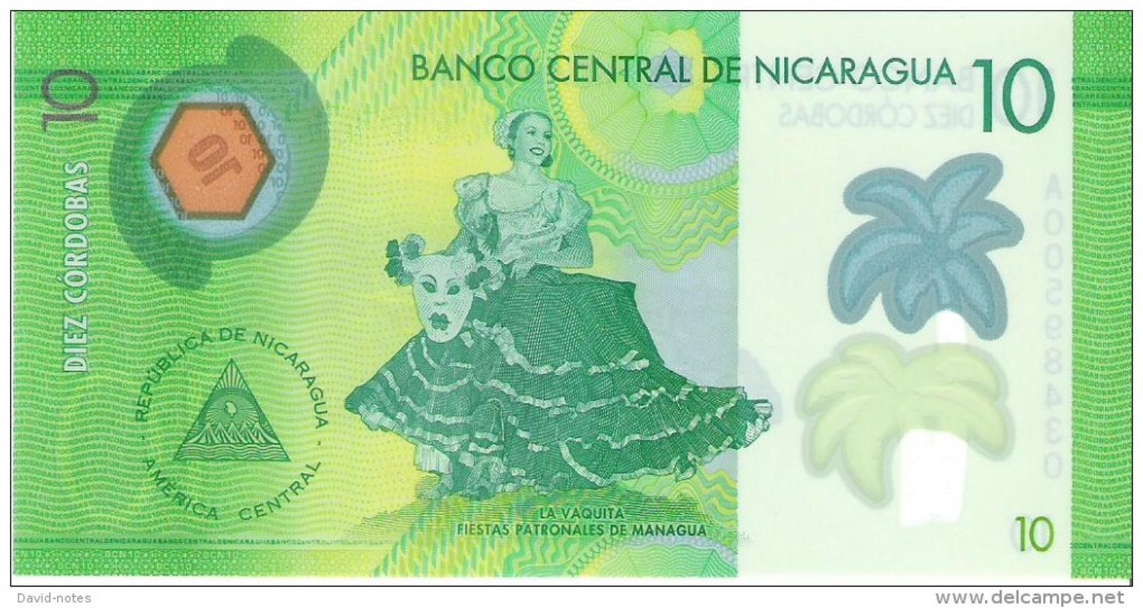 Nicaragua - Pick 209 - 10 Cordobas 2014 - 2015 - Unc - Nicaragua