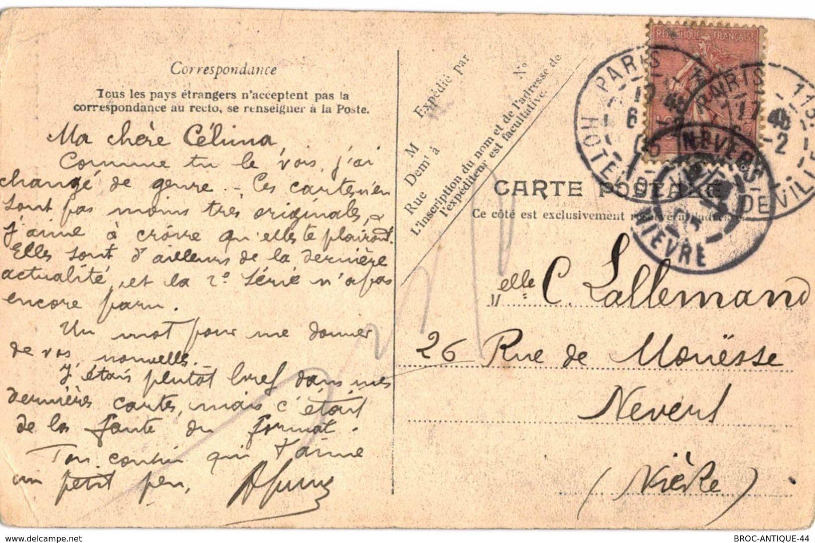 CPA N°9189 - LOT DE 2 CARTES GENERAL ANDRE + PELLETAN CAMILLE - DESSIN SATYRIQUE - COLLECTION GUIGNOL - G. LAPLAGNE - Künstlerkarten