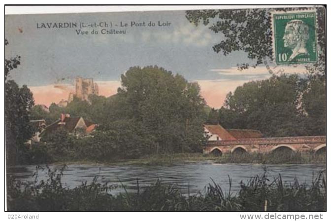 D41 - Lavardin  - Le Pont Sur Le Loir - Vue Du Château : Achat Immédiat - France