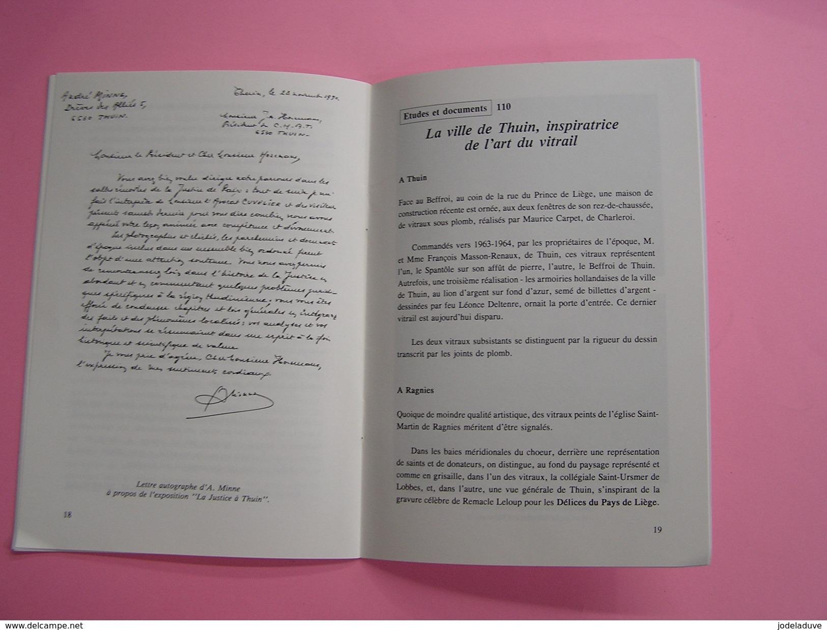 SAMBRE & HEURE N° 45 Régionalisme Thudinie Thuin Misère 1740 Gozée Ham Sur Heure Minne Physicien Vitrail Abbaye Aulne - België