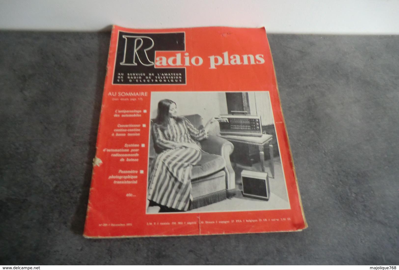 Revue Radio Plans - N°289 - Décembre 1971 - - Television