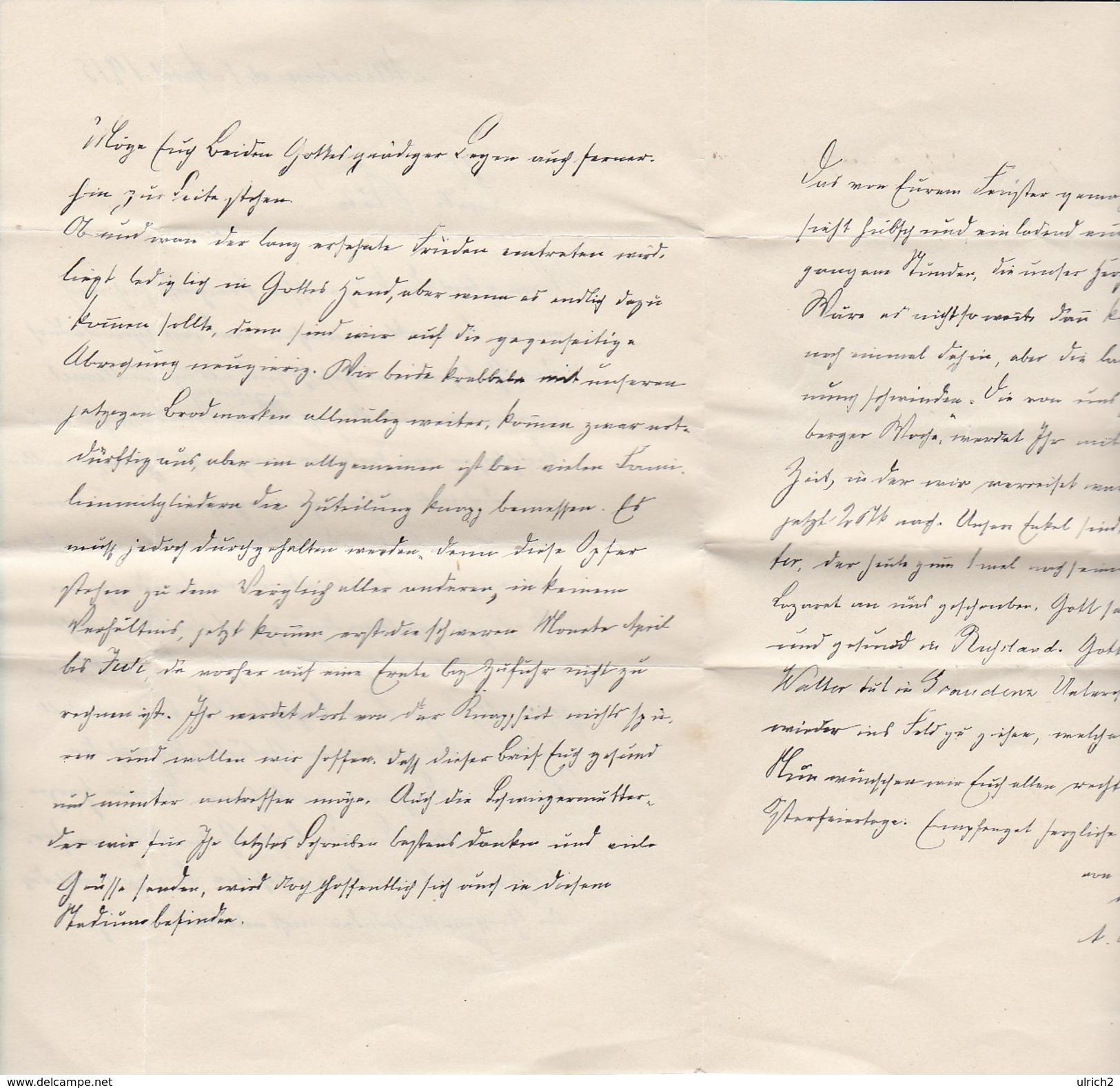 Handschriftlicher Brief Von 1914 - Allenstein - 3 Seiten (30574) - Historische Dokumente