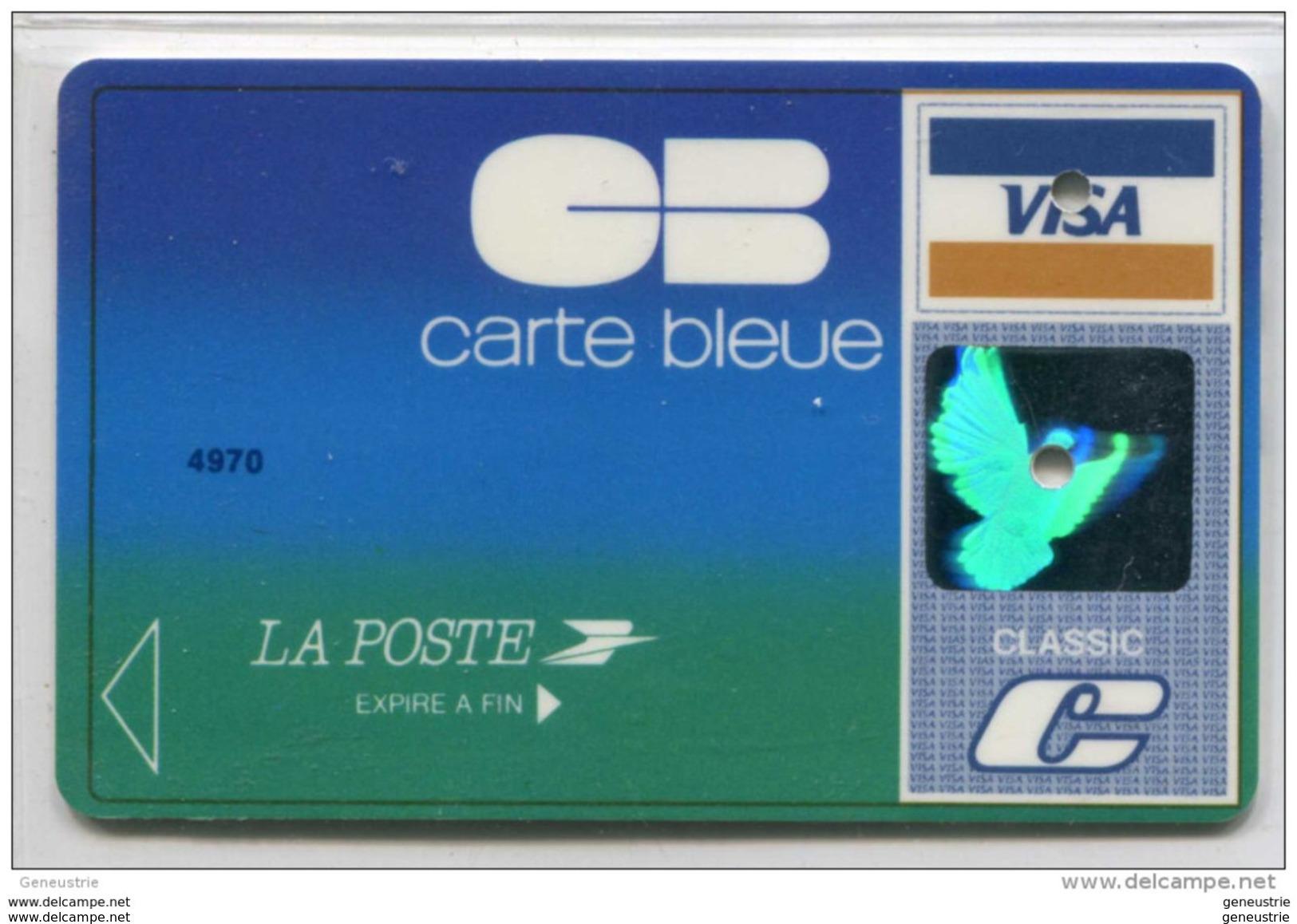 Spécimen De Carte Bancaire De Crédit Visa (annulée) - Carte Bleue - La Poste - Chèques Postaux à Paris - Credit Card - Cartes De Crédit (expiration Min. 10 Ans)