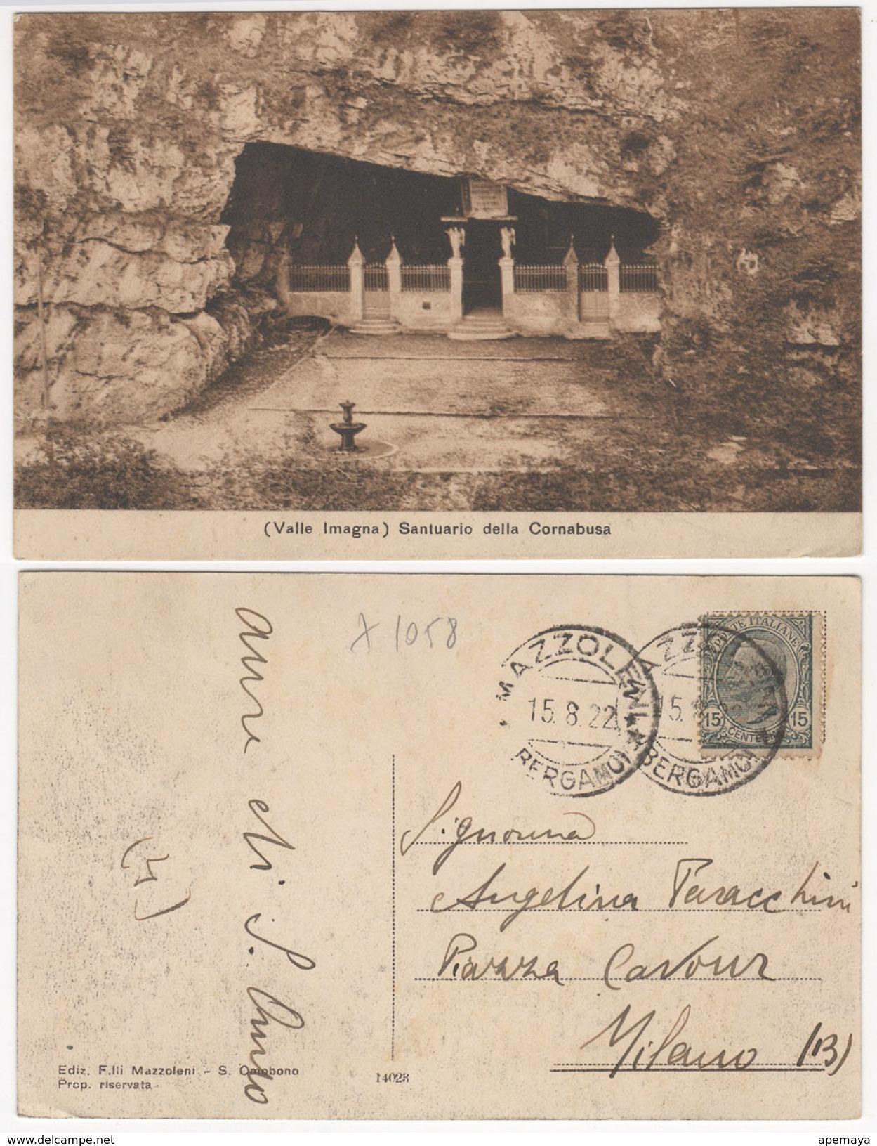Valle Imagna. Santuario Della Cornabusa. 1922. - Bergamo