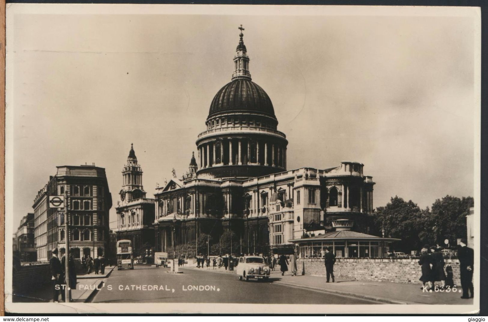 °°° 7640 - UK - LONDON - ST. PAUL'S CATHEDRAL - 1958 With Stamps °°° - St. Paul's Cathedral