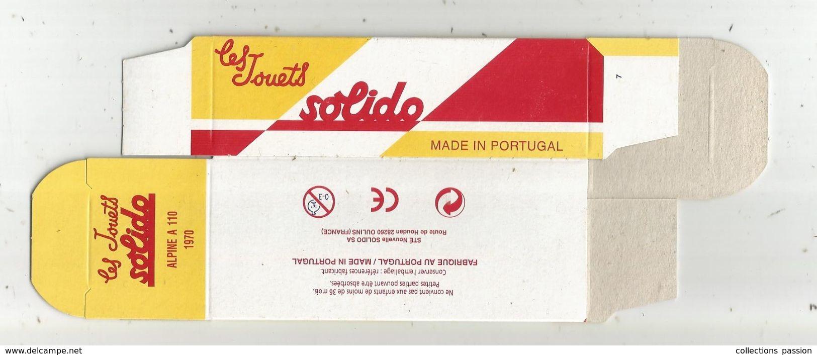 Faire Prendre De La Valeur à Votre Miniature, Solido ,Hachette , BOITE DE Alpine A 110, 1970, Frais Fr :1.55 E - Voitures