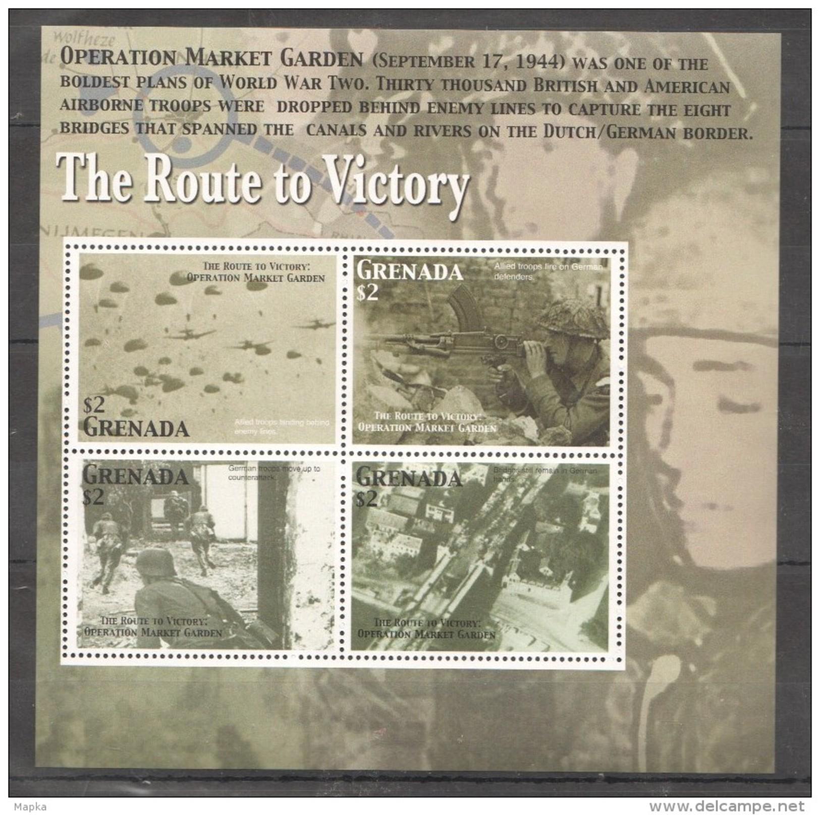 L672 GRENADA WW2 ROUTE TO VICTORY OPERATION MARKET GARDEN MNH - 2. Weltkrieg