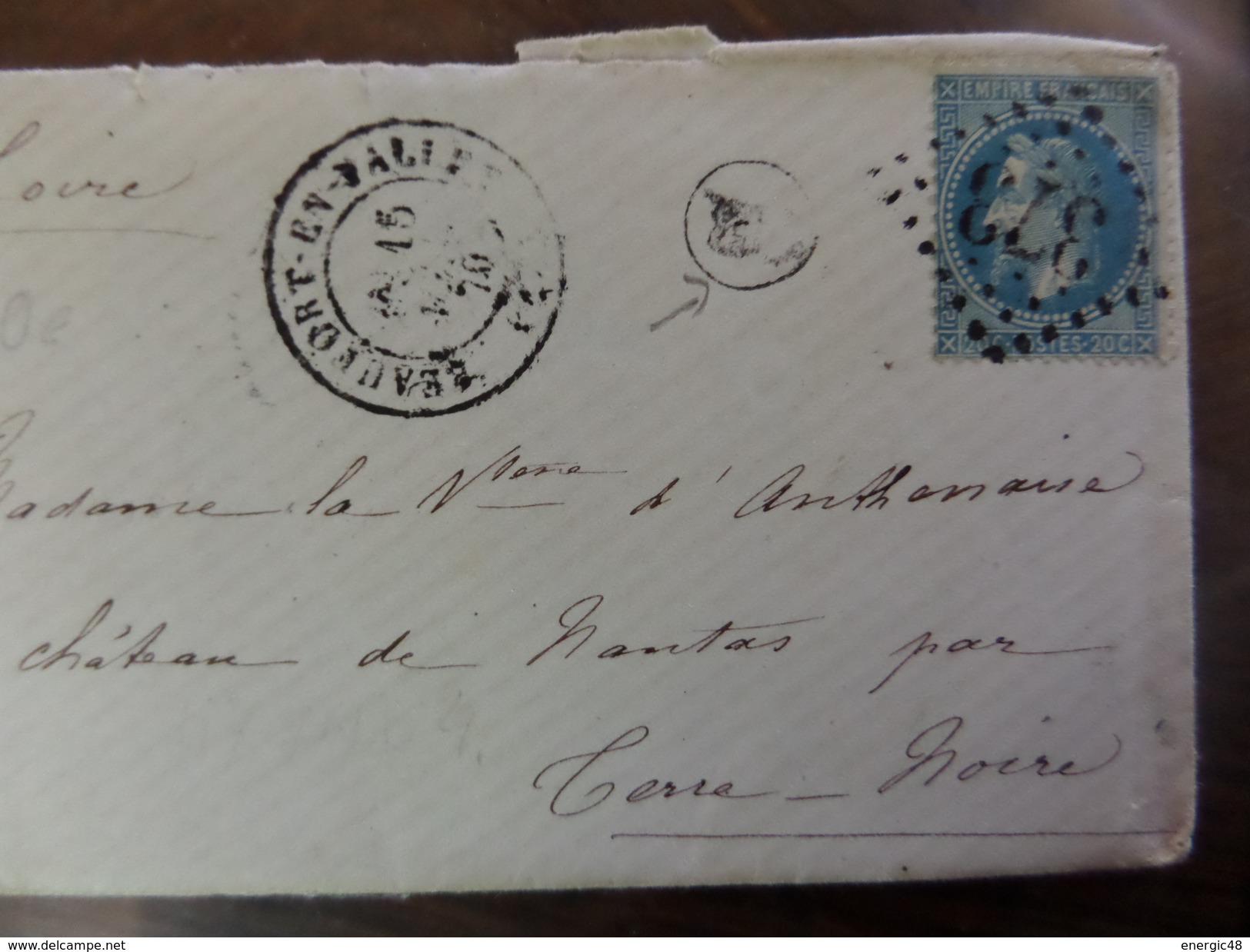 Du 20.09.17_LSC De Beaufort En Vallée,GC 373,variété Suarnet  1er Etat Sur N°29;  ,départ 1€!!!!!! Plus Taches!! - 1863-1870 Napoléon III Lauré