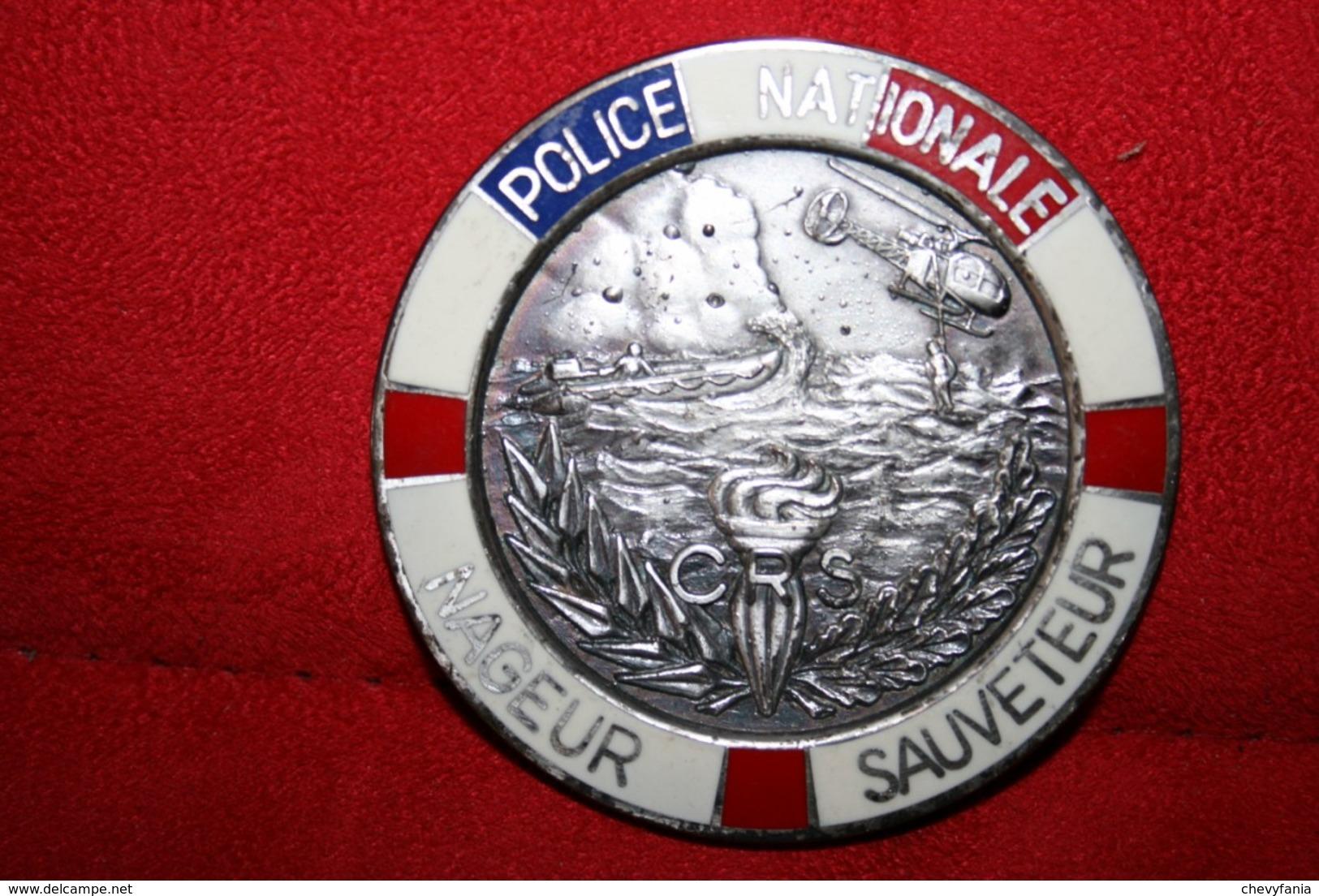 Ancien Insigne Nageur Sauveteur CRS - Police