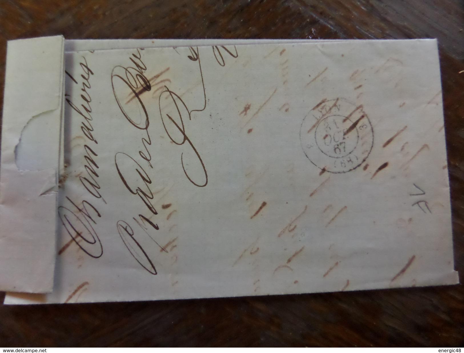 Du 20.09.17_LAC ,sur N°29;départ 1€!!!!!! Variété Suarnet ,filet Droit - 1863-1870 Napoléon III Lauré