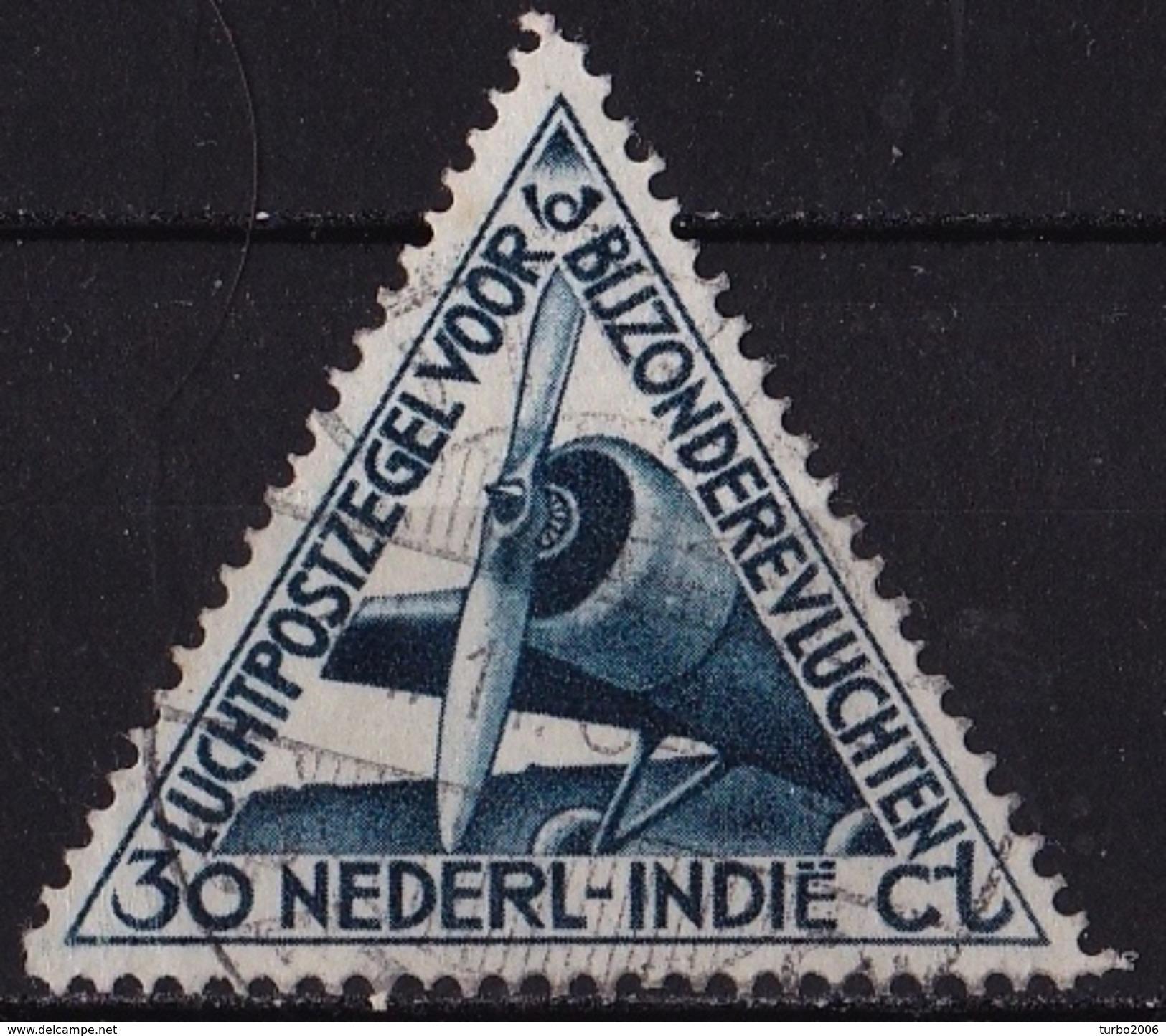 Ned. Indië: 1933 Luchtpost 30 Ct Blauw NVPH LP 18 - Indes Néerlandaises