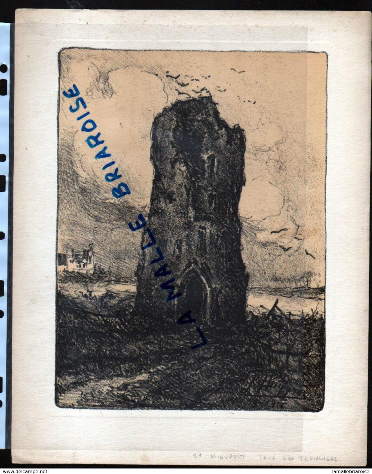 HUYGENS , Lithographie, Nieuport Tour Des Templiers, Militaria - Dessins