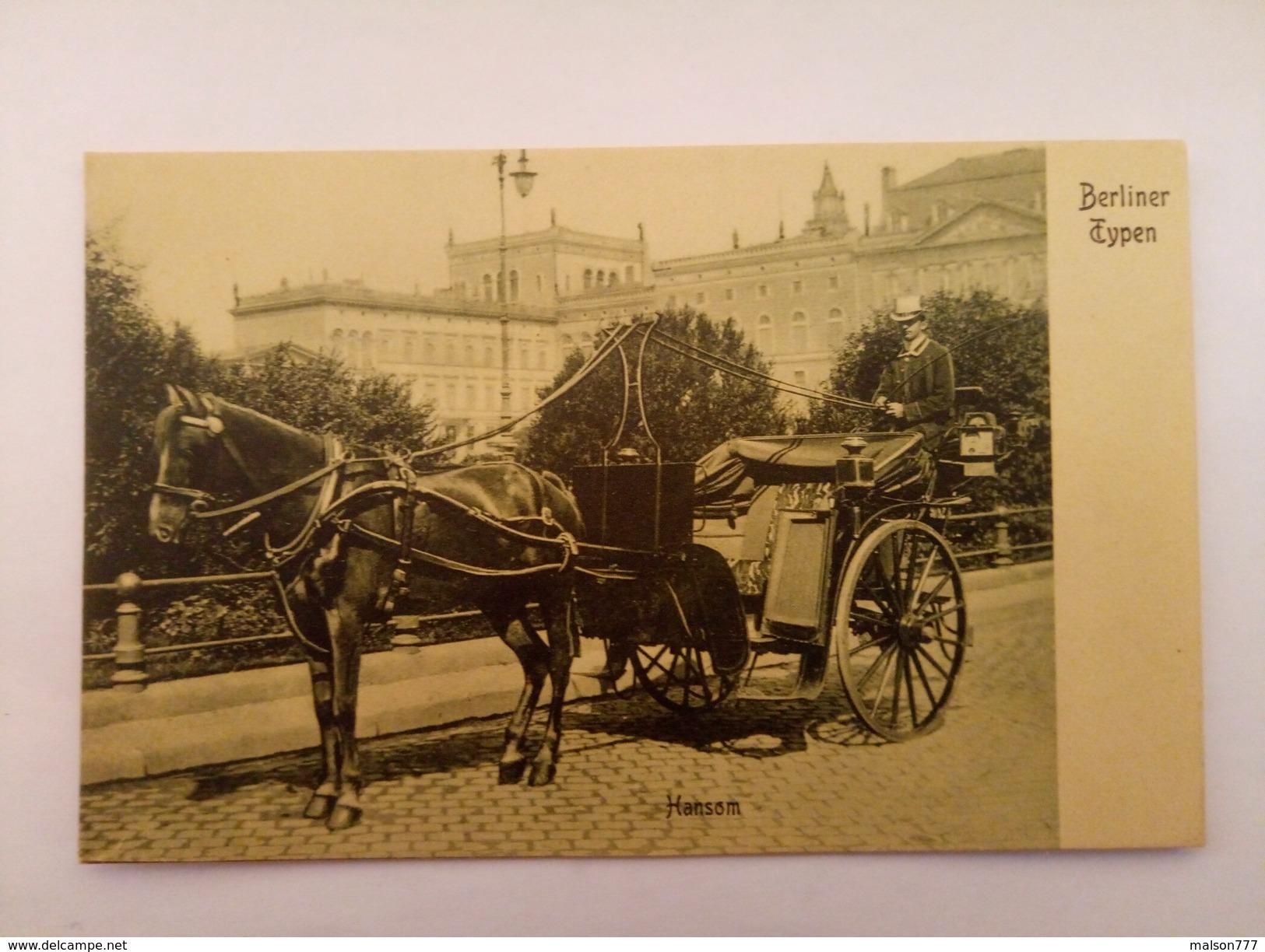 Berliner Typen Hansom Cab - Taxi & Carrozzelle