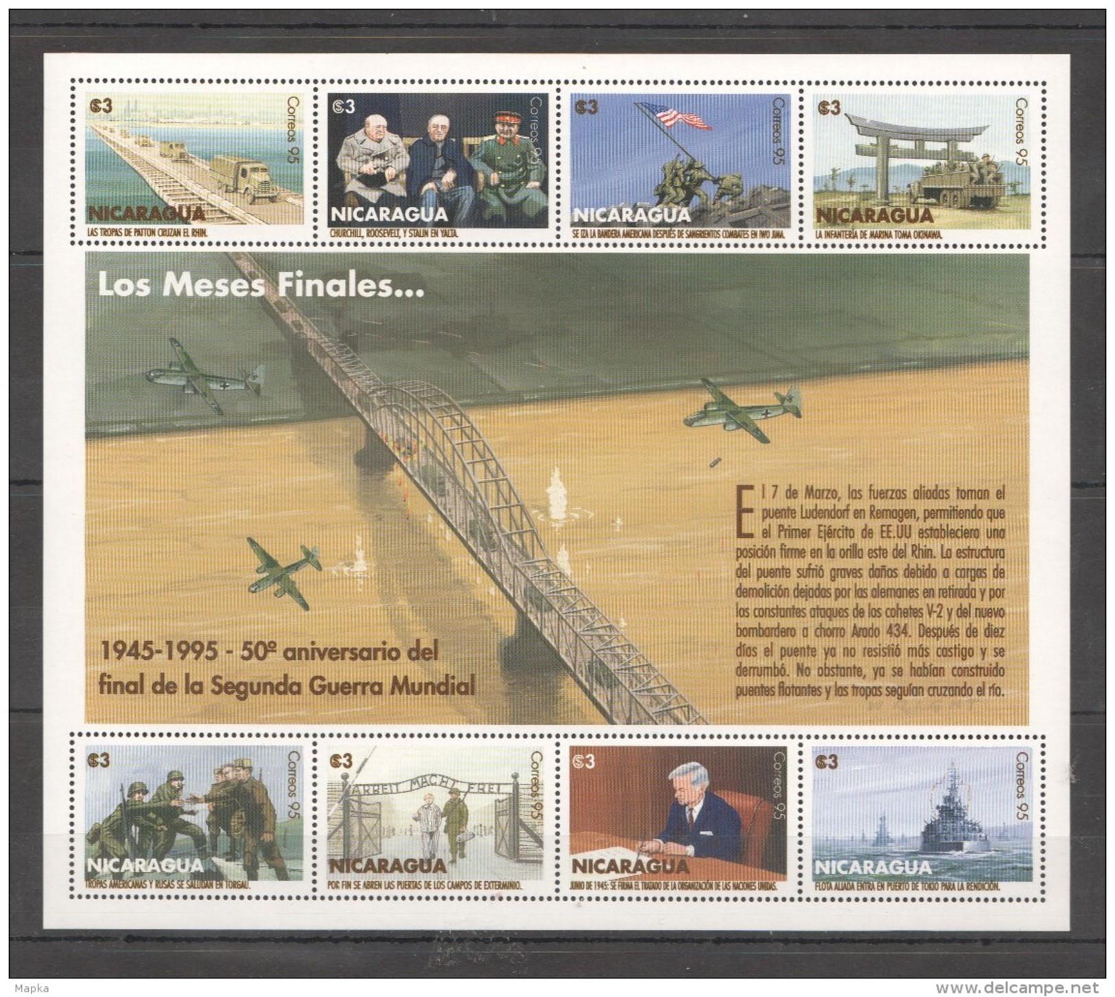 L786 1995 NICARAGUA WORLD WAR 2 LOS MESES FINALES 1KB MNH - 2. Weltkrieg