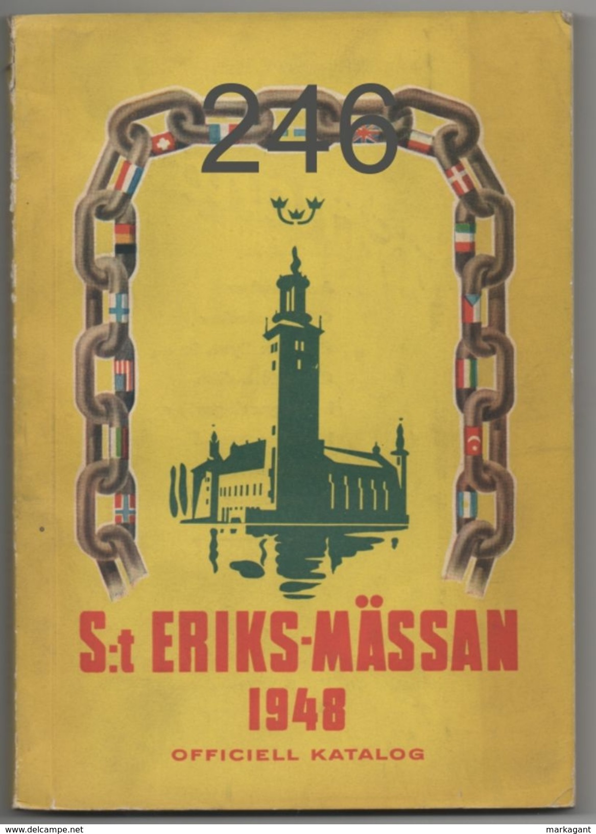 S:t  Eriks-mässan 1948 Officiell Katalog - Bücher, Zeitschriften, Comics