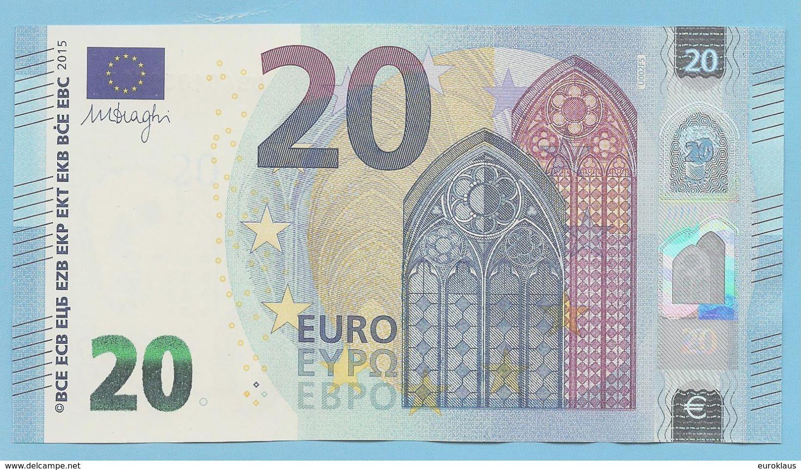 RARE U002F5 UNC NUMEROTATION INVERSE / LOW NUMBER UB***000005* ! UNC - 20 Euro