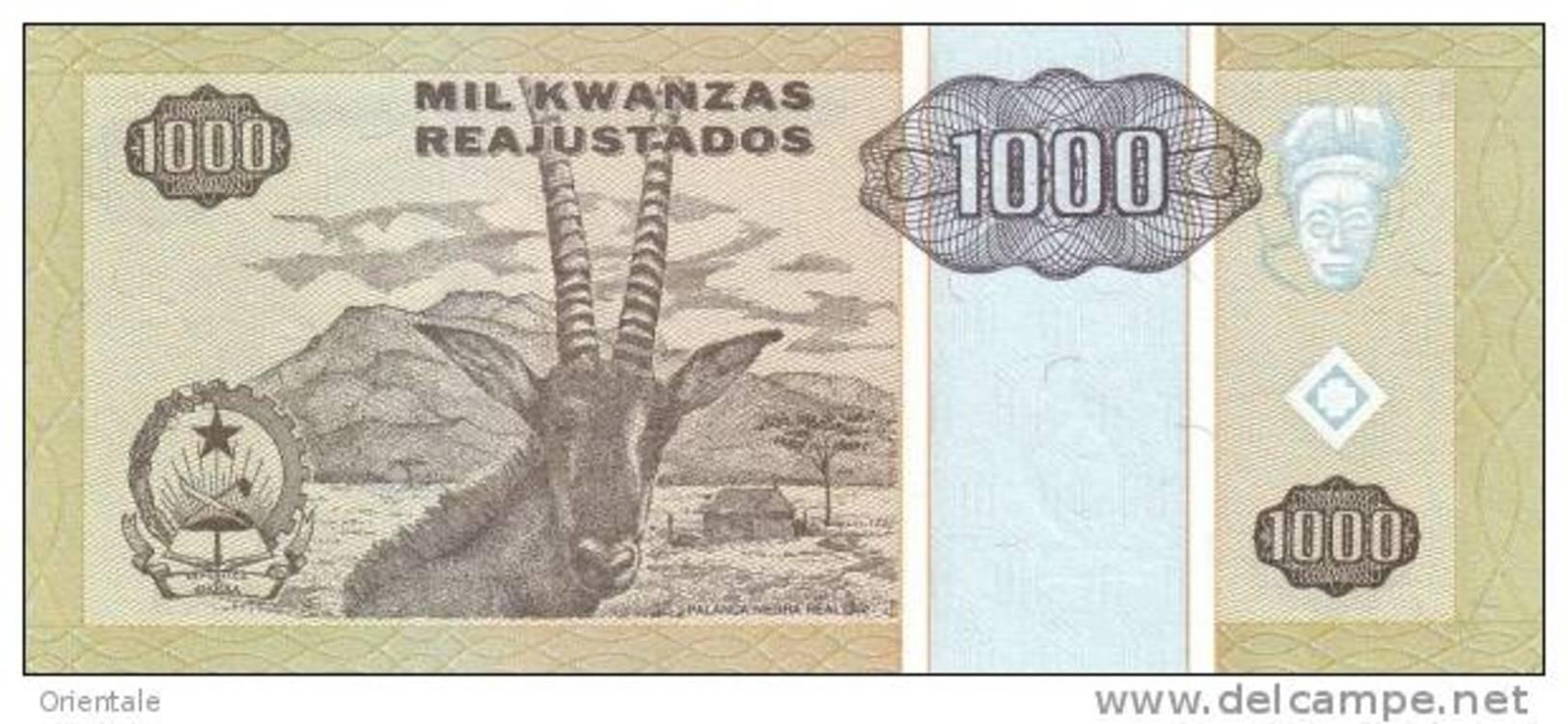ANGOLA P. 135 1000 K 1995 UNC - Angola