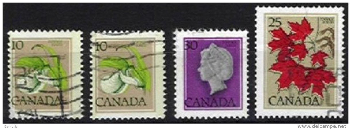 CANADA, Yv 630, 639, 796, Used, F/VF - Oblitérés