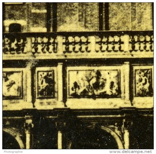 Italie Venise Tour De L'Horloge Torre Dell'Orologio Ancienne Stereo Photo 1865 - Stereoscopic