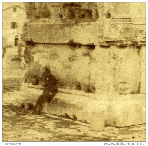 Italie Rome Arc De Titus Ancienne Stereo Photo 1865 - Stereoscopic