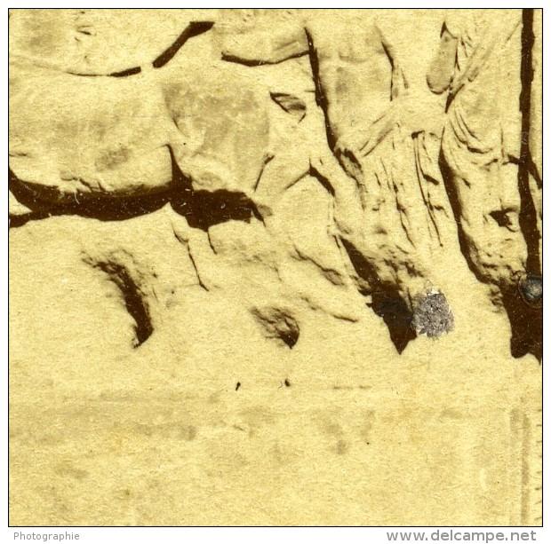 Italie Rome Arc De Titus Relievo Ancienne Stereo Photo 1865 - Stereoscopic