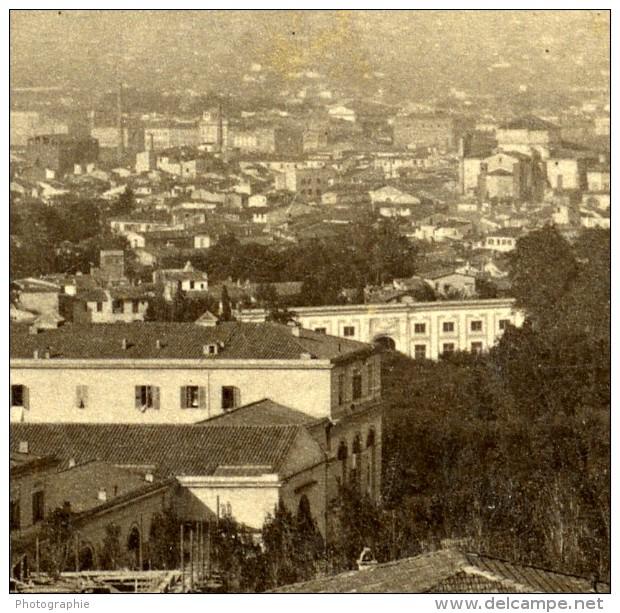Italie Florence Panorama Depuis Viale Dei Colli Ancienne Stereo Photo Alinari 1865 - Stereoscopic