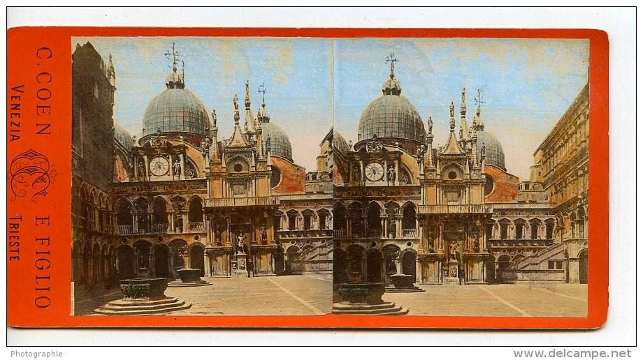Italie Venise Palais Ducal Cour Interieure Ancienne Stereo Photo 1865 - Stereoscopic