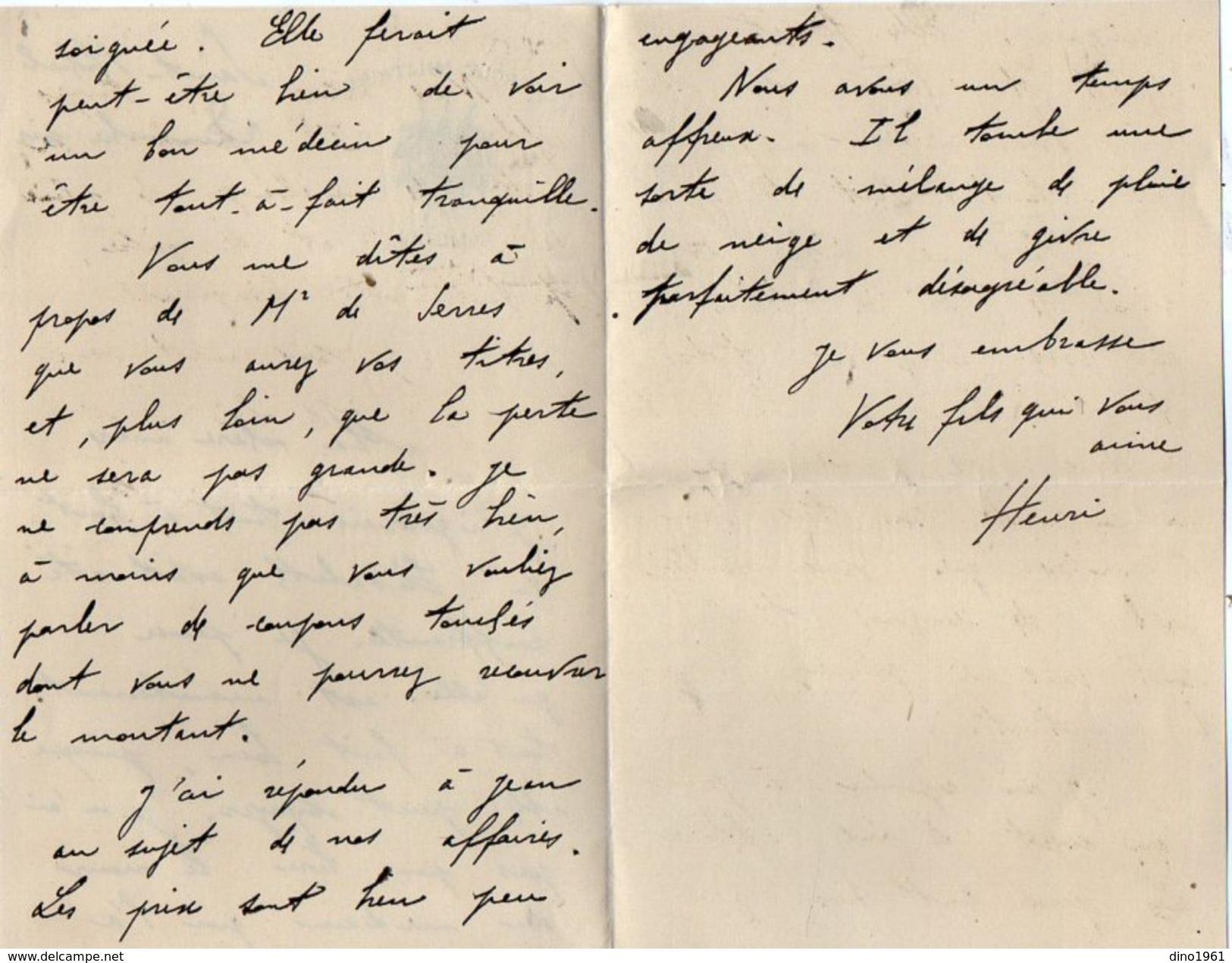 VP10.825 - MILITARIA - Lettre Du Lt Henri LABORDE Au 40 ème Rgt D'Artillerie à SAINT MIHIEL - Tué Le 21/07/1918 - Manuscripts