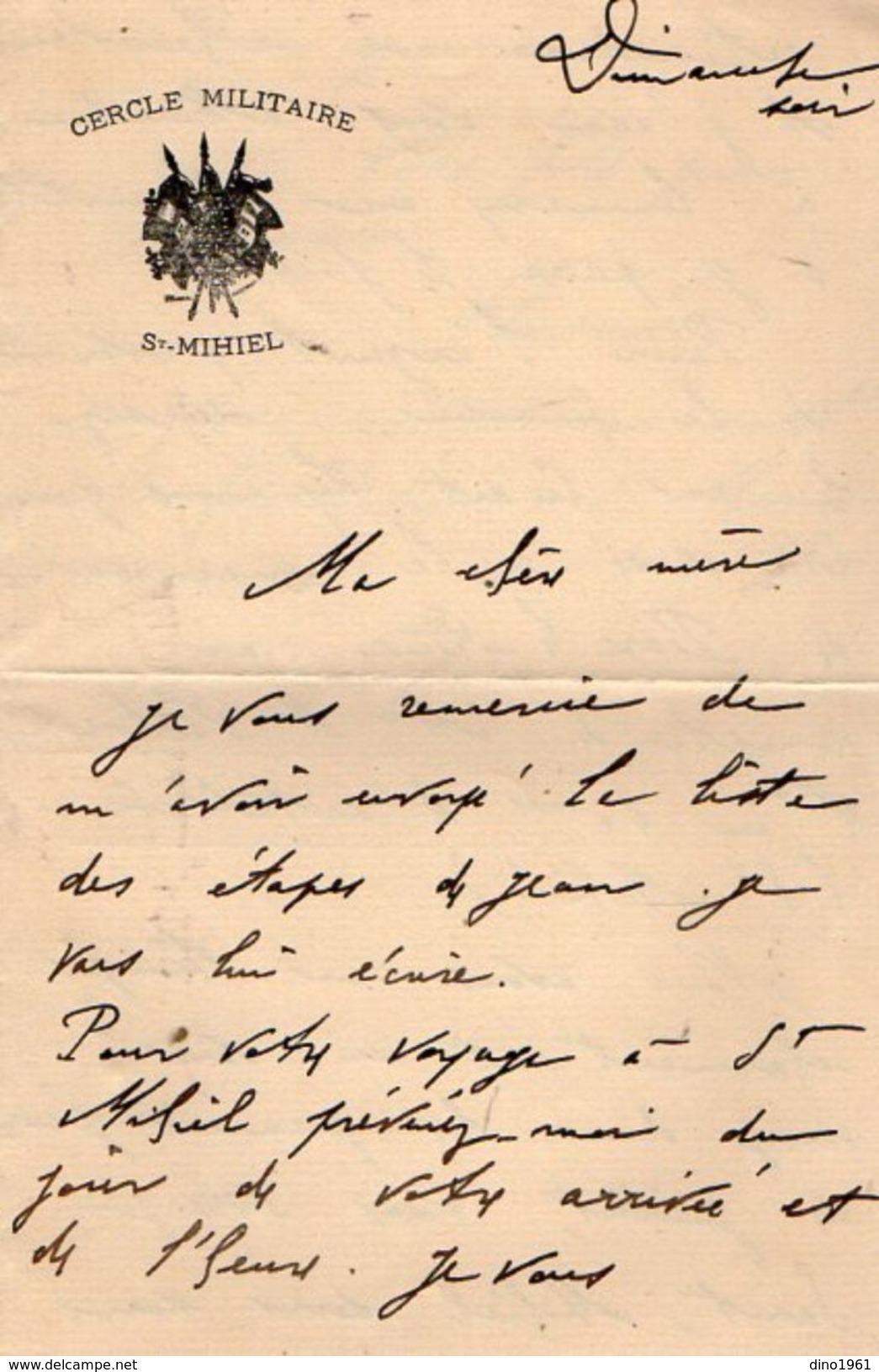 VP10.826 - MILITARIA - Lettre Du Lt Henri LABORDE Au 40 ème Rgt D'Artillerie à SAINT MIHIEL - Tué Le 21/07/1918 - Manuscripts