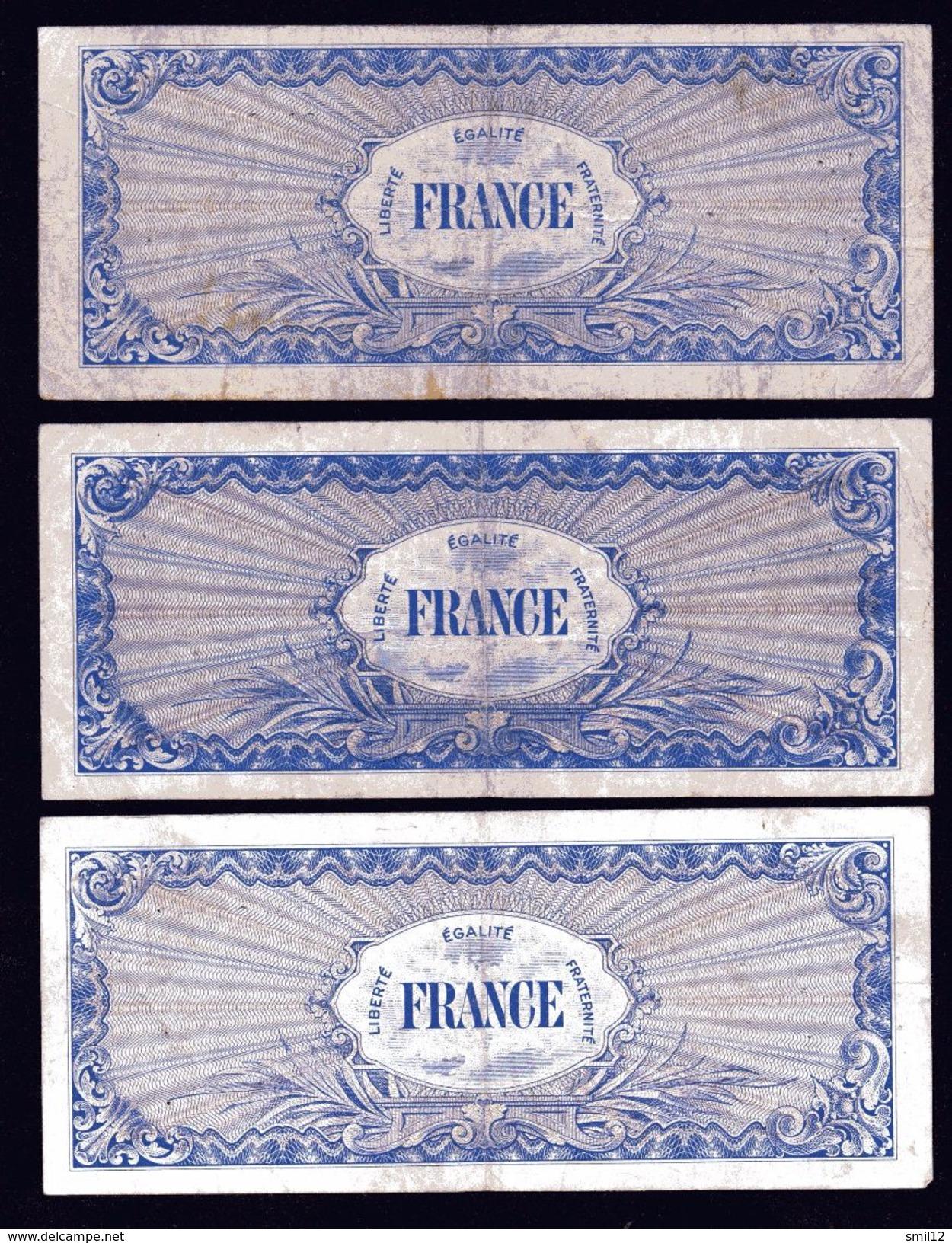 France - Lot 3X 100 Francs France - Treasury