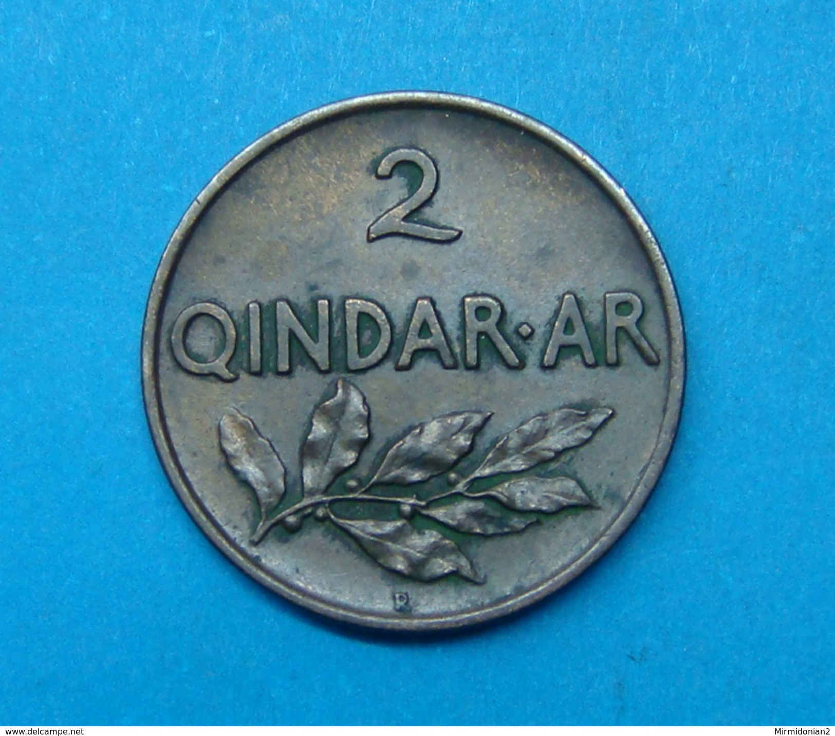 ALBANIA 2 QINDAR AR 1935, HIGH QUALITY - Albania