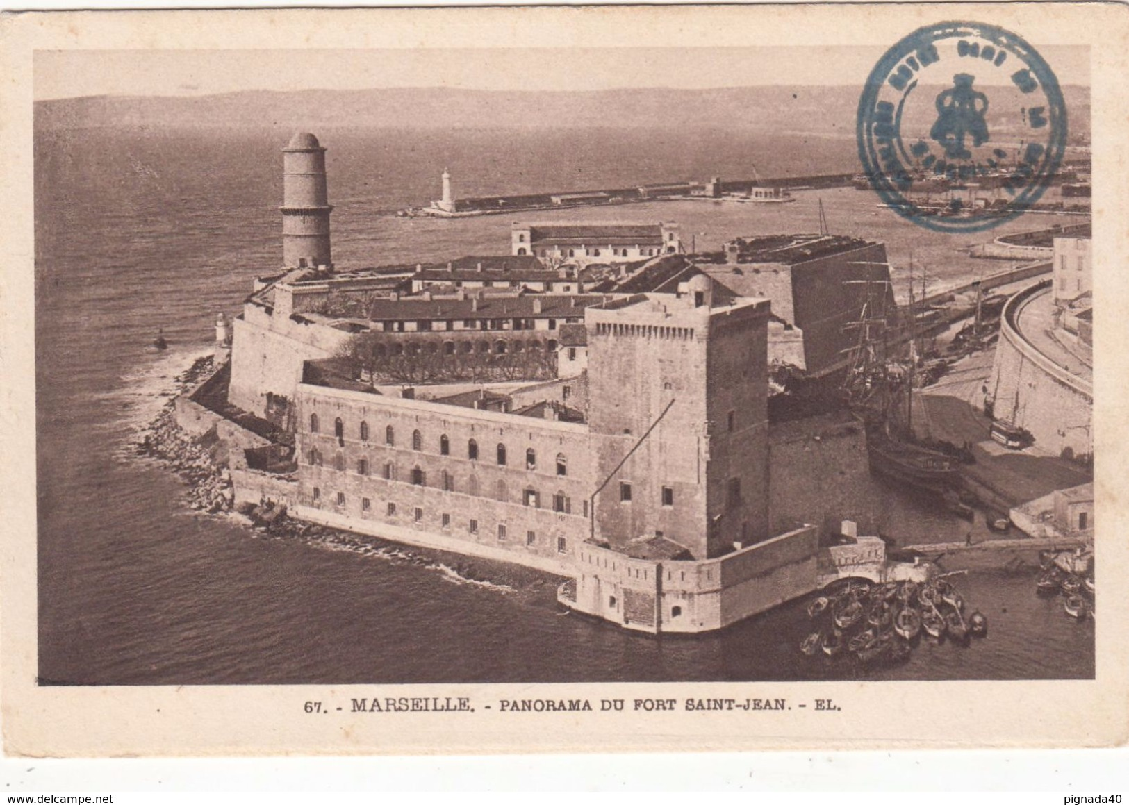 Cp , 13 , MARSEILLE , Panorama Du Fort Saint-Jean - Other