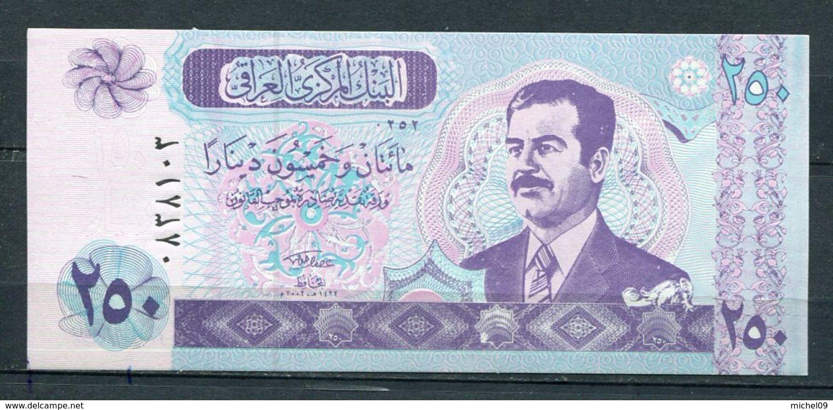 IRAQ 250 DINARS 2002  PICK 88 BILLET NEUF UNC - Iraq