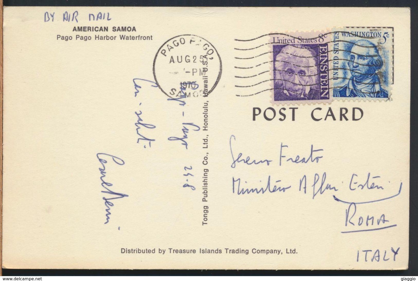 °°° 7947 - AMERICAN SAMOA - PAGO PAGO HARBOR WATERFRONT - 1970 With Stamps °°° - Samoa Americana