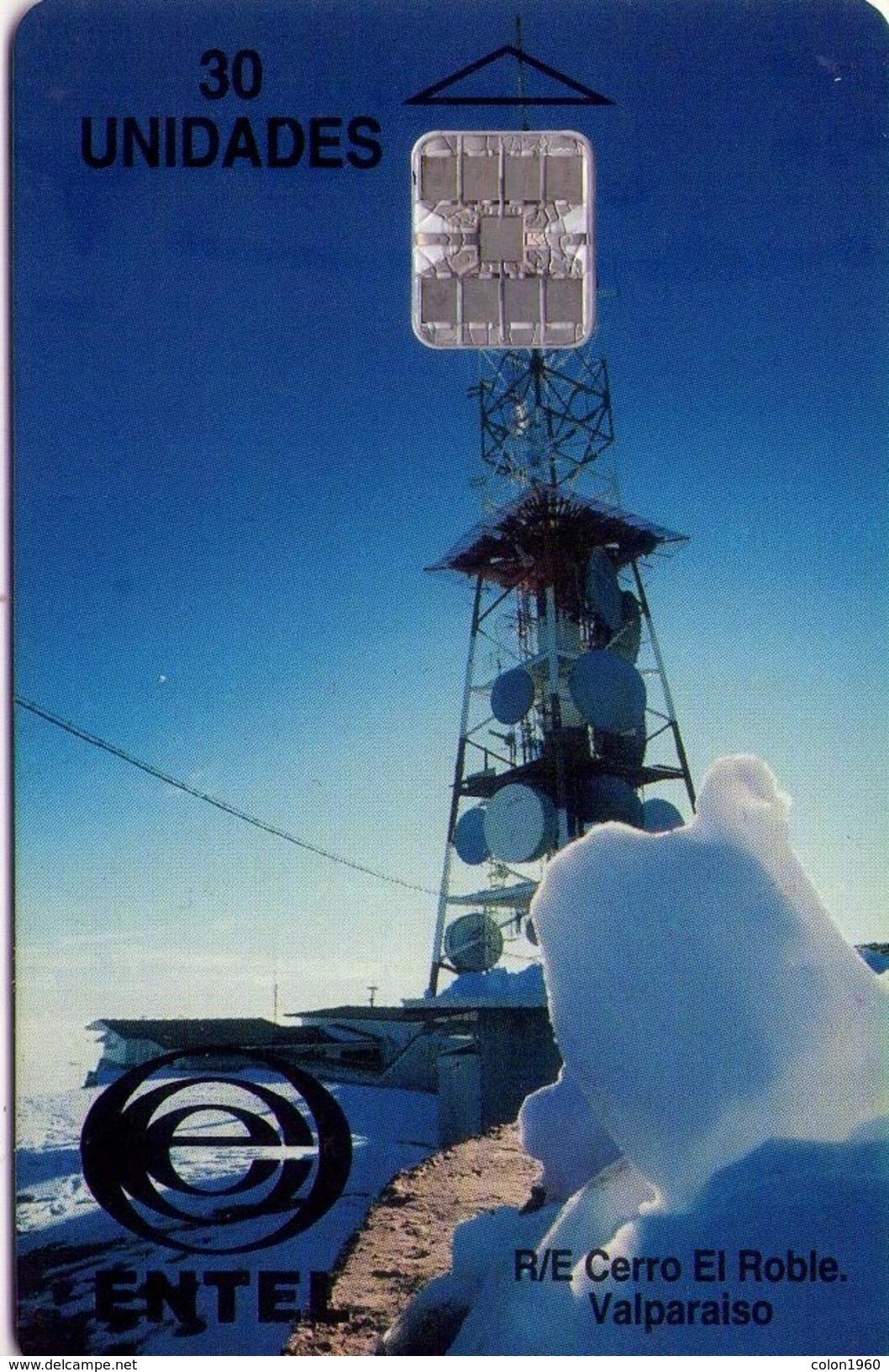 TARJETA TELEFONICA DE CHILE. Telecom Tower, Valparaiso. R/E CERRO EL ROBLE. CL-Entel-06 (297) - Chile