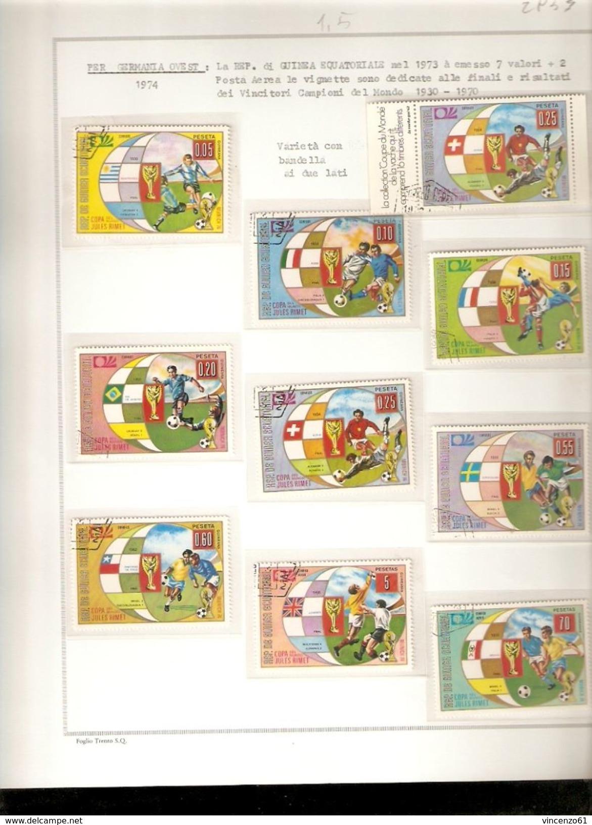 REPUBLIQUE DE GUINEA ECUATORIALE  WORLD CUP 1974 GERMANY 74 - Coppa Del Mondo