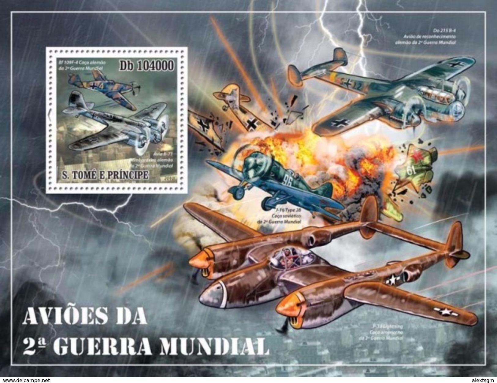 S. TOME & PRINCIPE 2010 - World War 2 Planes - YT BF532 - 2. Weltkrieg