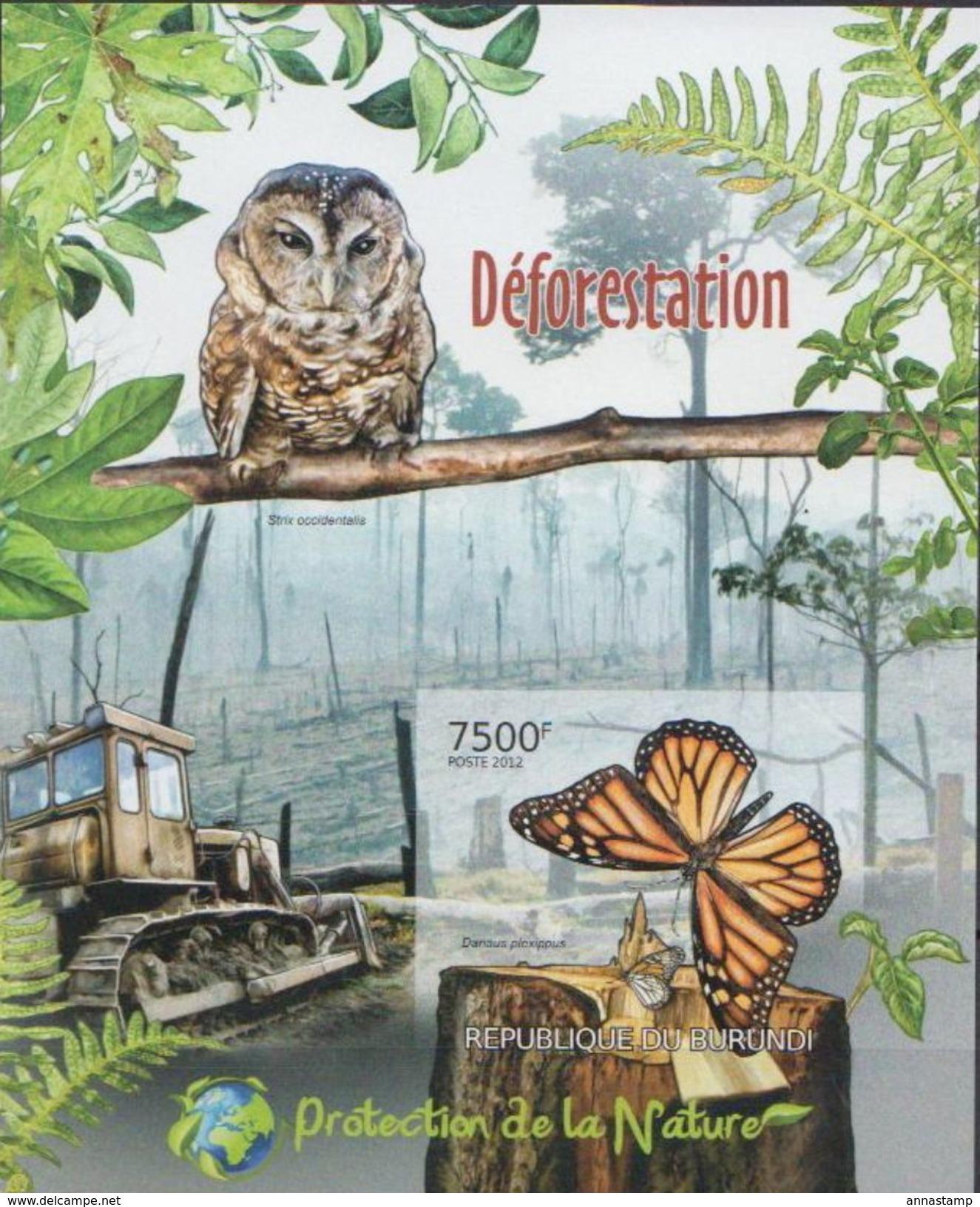 Burundi MNH Butterflies Imperforated SS - Schmetterlinge