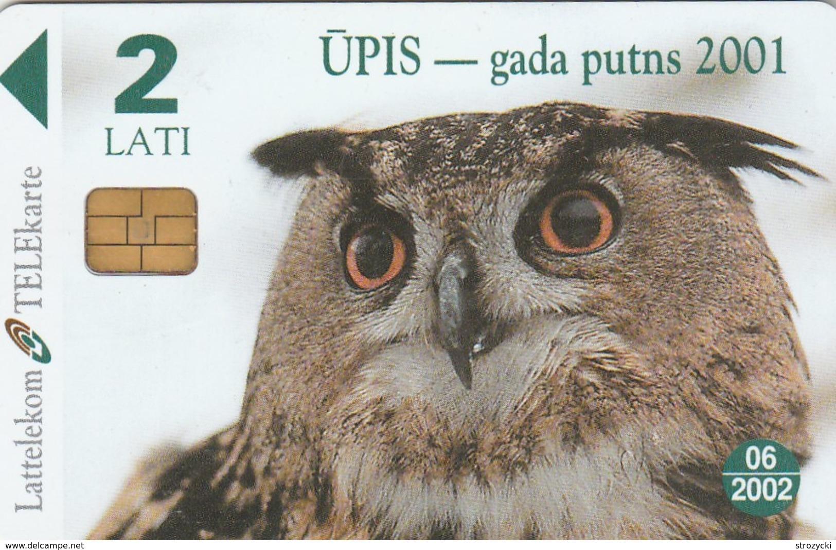 Latvia - Eagle Owl – The Bird Of The Year 2001 - Latvia