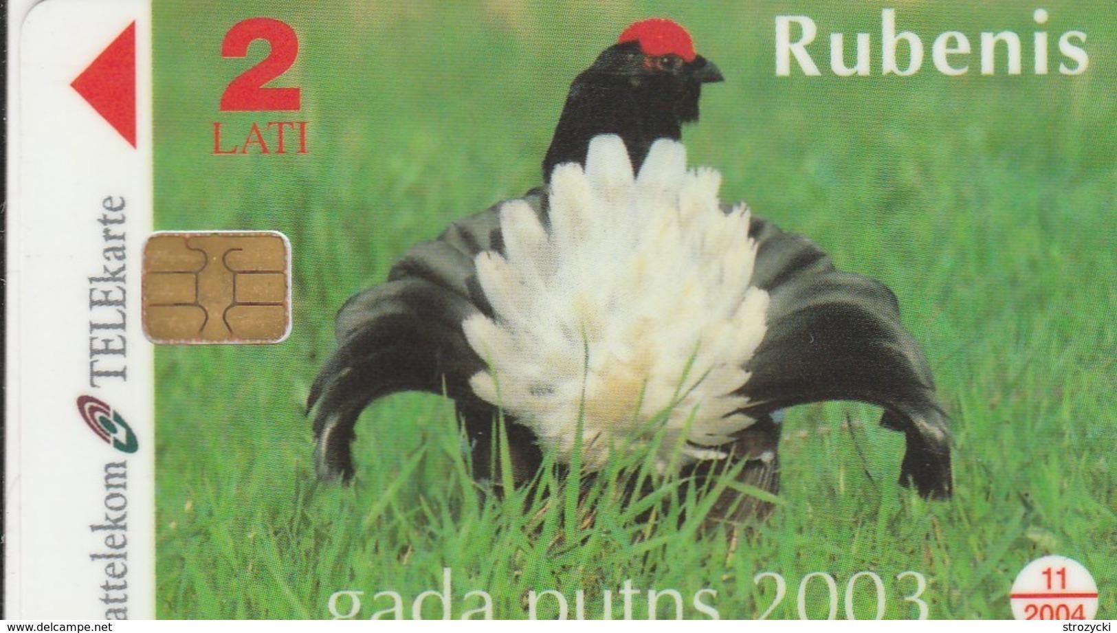 Latvia - Black Grouse - The Bird Of The Year 2003 - 1 - Latvia