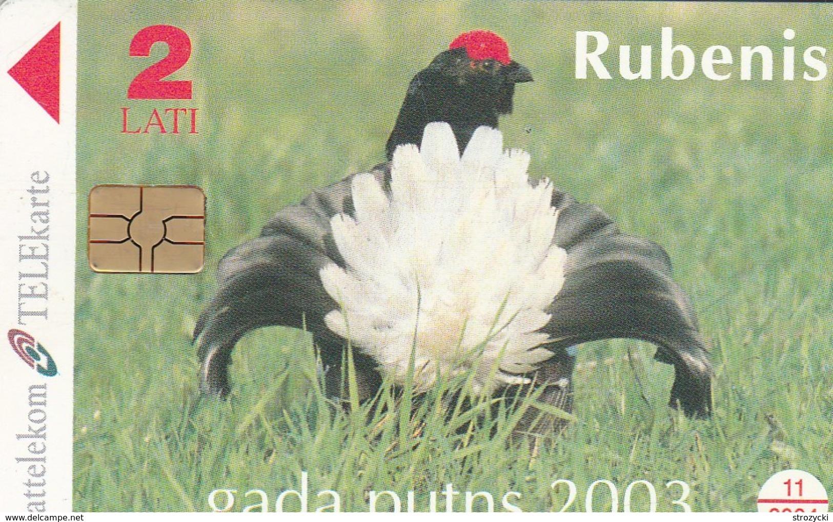 Latvia - Black Grouse - The Bird Of The Year 2003 - 2 - Latvia
